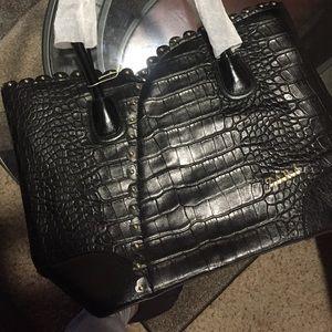 Black Croco women purse